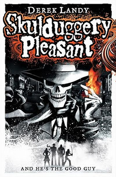 Cover Skulduggery Pleasant englisch